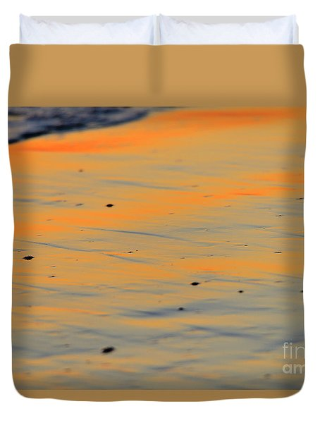 Surf And Sand Afterglow Duvet Cover