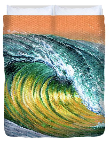 Surf Into The Sunset Duvet Cover