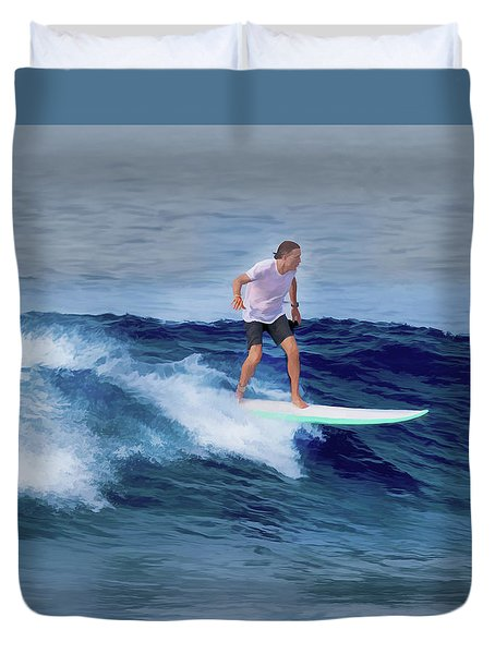 Surfing Andy Duvet Cover
