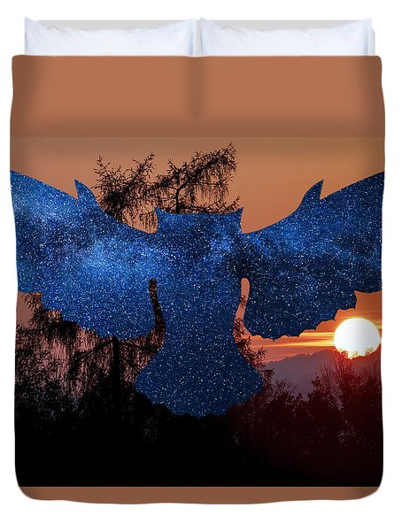 Sunset Owl Duvet Cover