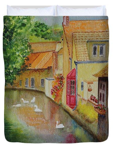 Swan Canal Duvet Cover