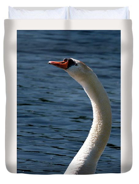 Duvet Cover featuring the photograph Swan's Neck by Onyonet  Photo Studios
