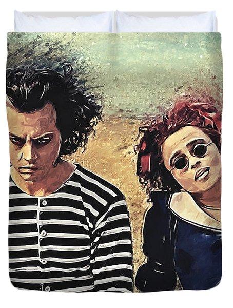 Sweeney Todd And Mrs. Lovett Duvet Cover