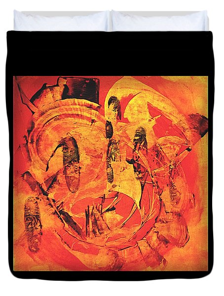 Duvet Cover featuring the painting Sweep by 'REA' Gallery