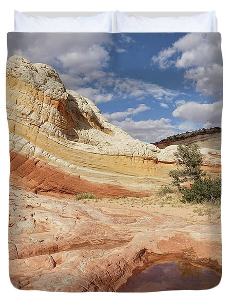 Sweeping Structures In Sandstone Duvet Cover