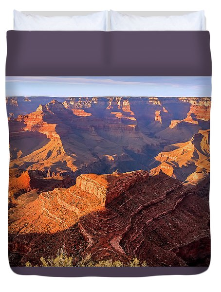 Duvet Cover featuring the photograph Sweet Sunset by Dawn Richards