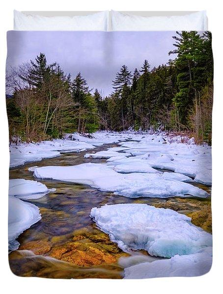 Swift River Winter  Duvet Cover