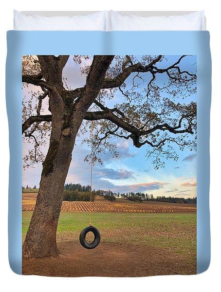 Swing In Tree Duvet Cover