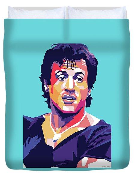Sylvester Stallone Duvet Cover