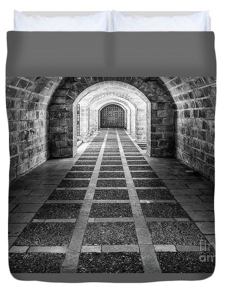 Symmetry In Black And White Duvet Cover