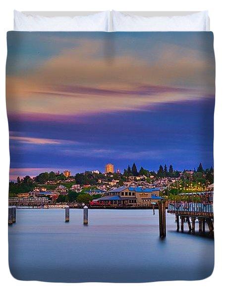 Tacoma, Point Ruston Duvet Cover