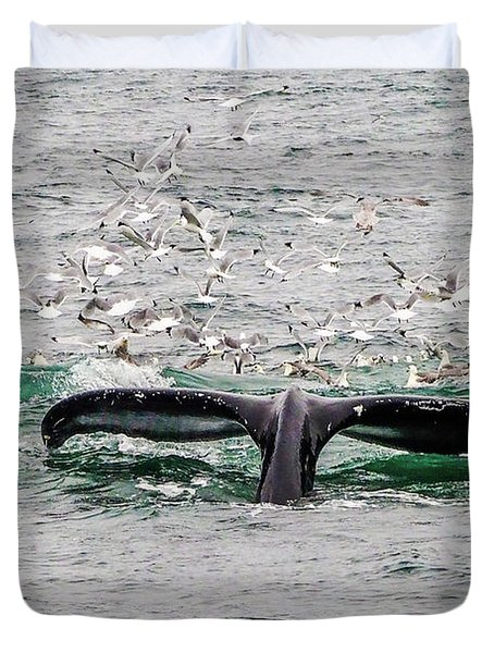 Tail Of A Whale Duvet Cover