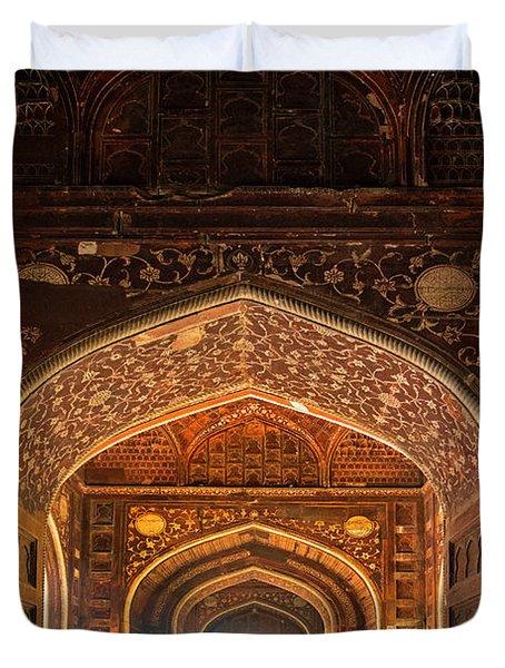 Taj Mahal Interior, Agra, Uttar Duvet Cover