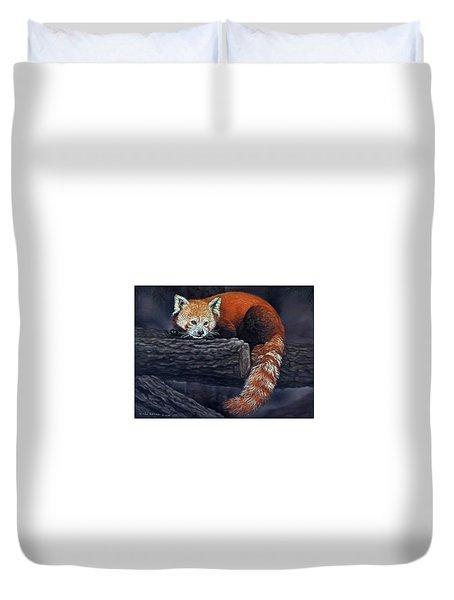 Takeo, The Red Panda Duvet Cover