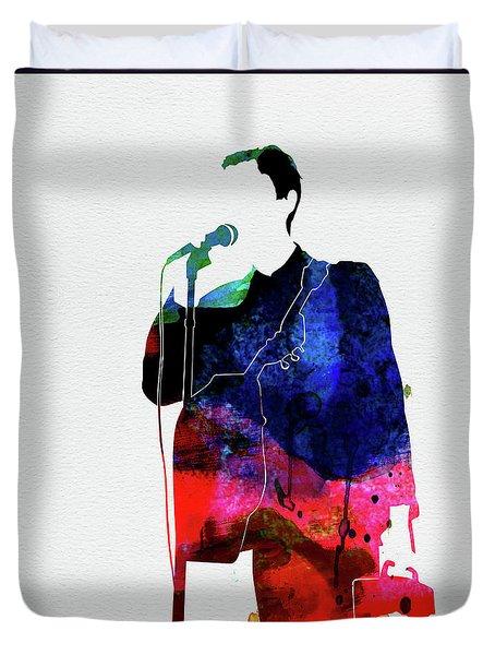 Talking Heads Watercolor Duvet Cover