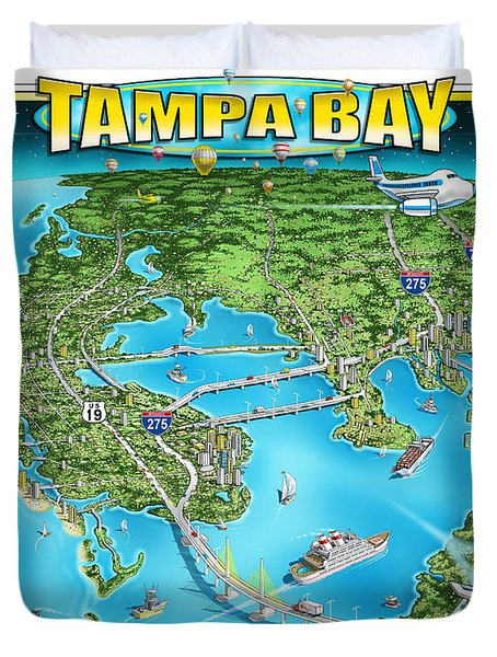Tampa Bay 2019 Duvet Cover