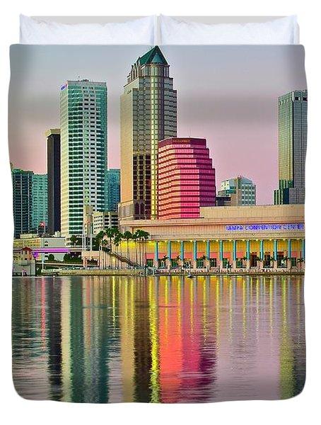 Tampa In Vivid Color Duvet Cover