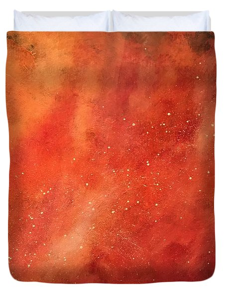 Tangerine Nebula Cloud Duvet Cover