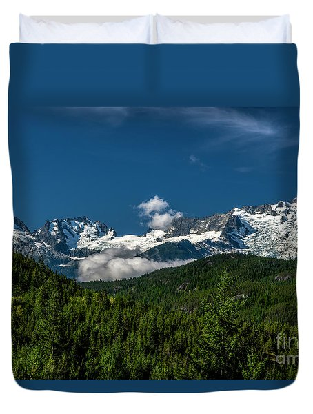 Duvet Cover featuring the photograph Tantalus Mountain Range by Jon Burch Photography