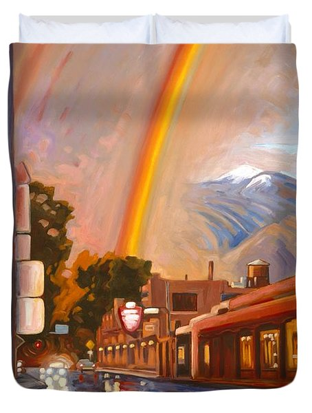 Taos Rainbow Duvet Cover