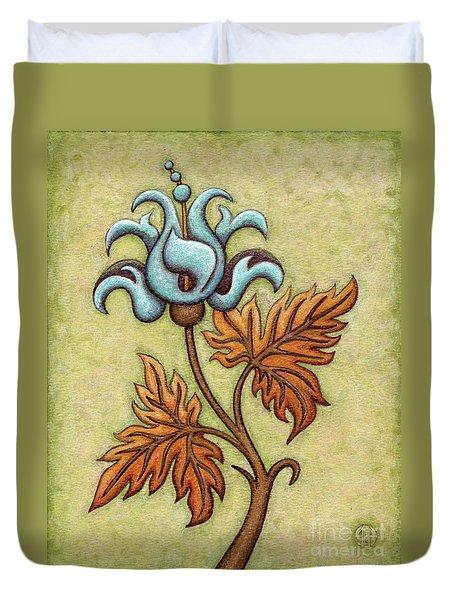 Tapestry Flower 2 Duvet Cover