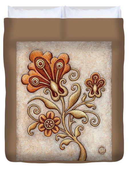 Tapestry Flower 3 Duvet Cover