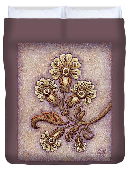 Tapestry Flower 4 Duvet Cover