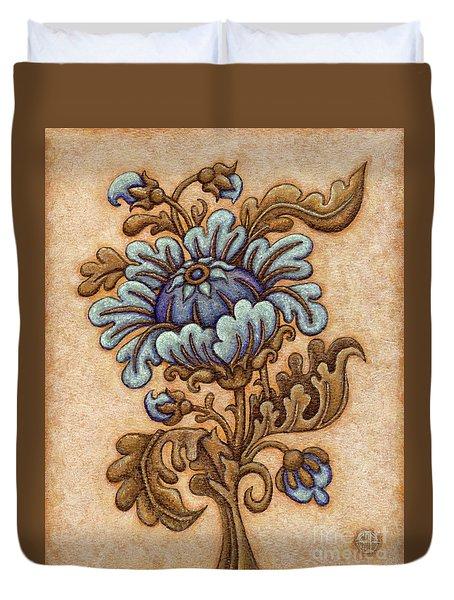 Tapestry Flower 5 Duvet Cover
