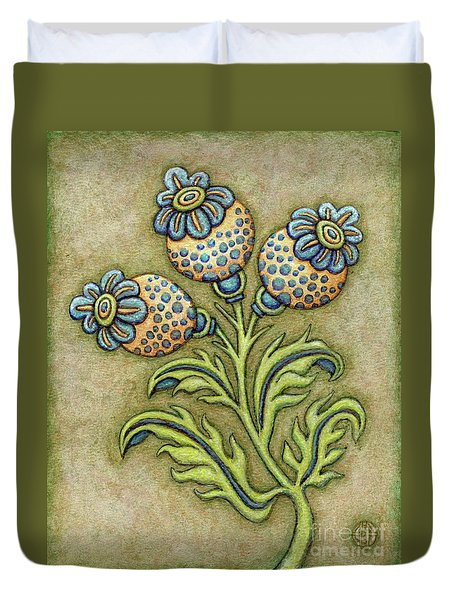 Tapestry Flower 6 Duvet Cover