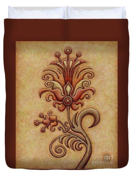 Tapestry Flower 7 Duvet Cover