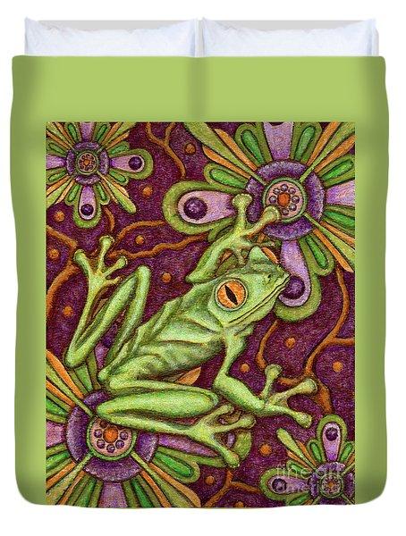 Tapestry Frog Duvet Cover