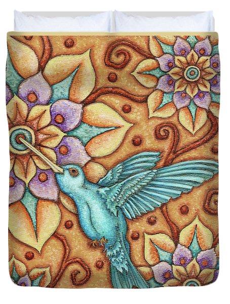 Tapestry Hummingbird Duvet Cover