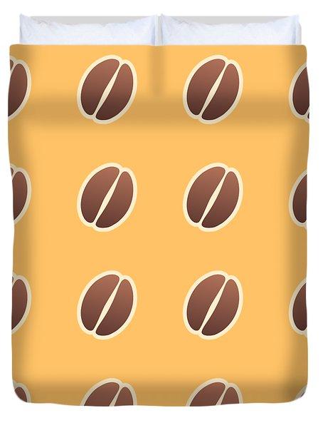 Tasty Coffee Seamless Pattern Duvet Cover
