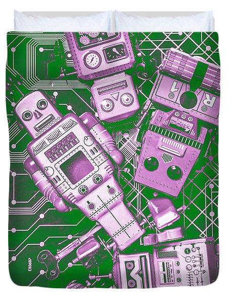 Tech Borg Centre Duvet Cover