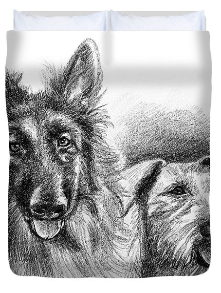Ted And Seamus Duvet Cover