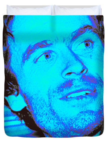 Ted Bundy Blue Duvet Cover