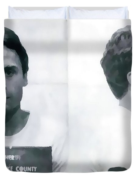 Ted Bundy Mug Shot Duvet Cover
