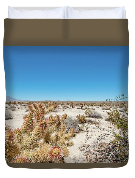 Teddy Bear Cactus Duvet Cover