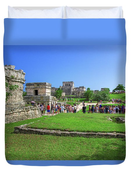 Temples Of Tulum Duvet Cover
