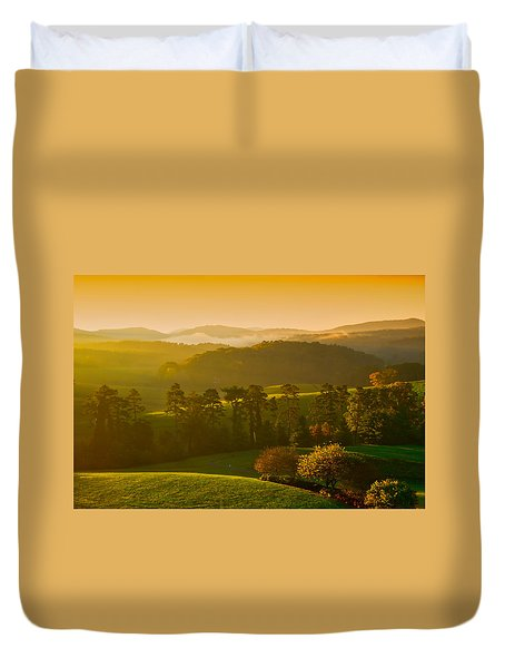 Smokey Mountain Sunrise Duvet Cover