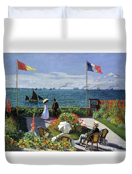 Terrace In Sainte-adresse - Digital Remastered Edition Duvet Cover