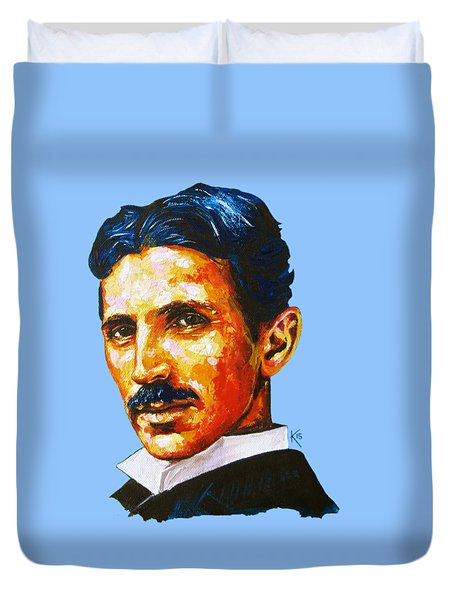 Tesla - Pure Genius Duvet Cover