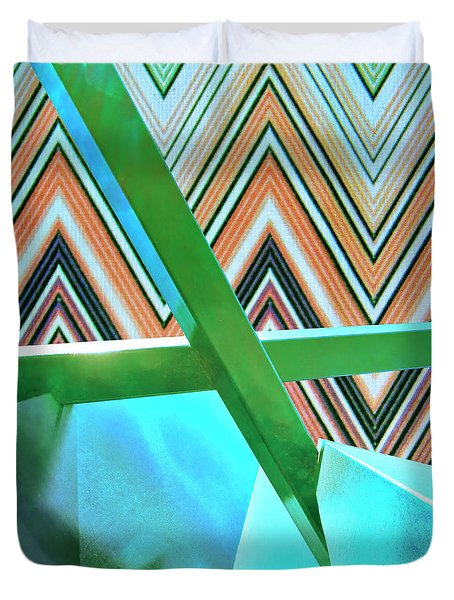 Test Pattern Rise Of Abstraction Duvet Cover