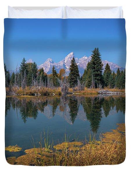 Tetons Majesty Duvet Cover