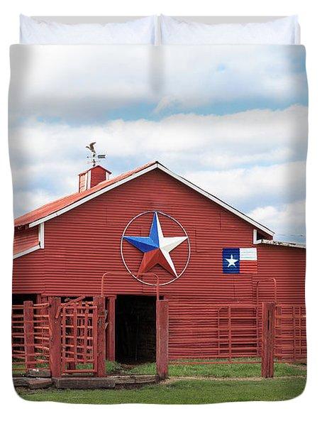 Texas Red Barn Duvet Cover