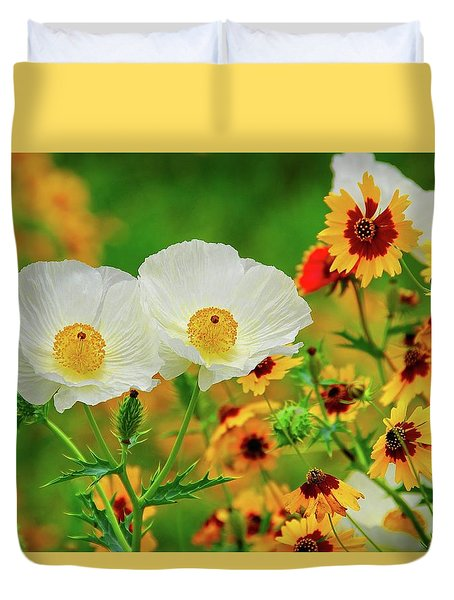Texas Wildflowers Duvet Cover