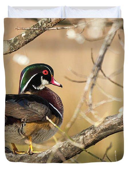 Texas Wood Duck Duvet Cover