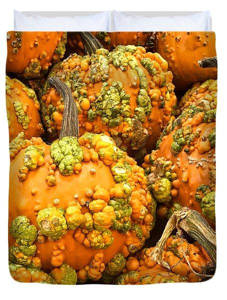 Textured Pumpkins  Duvet Cover