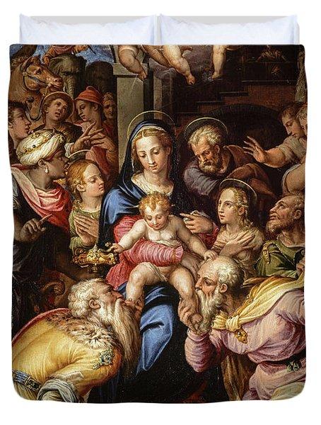 The Adoration Of The Magi, 1567 Duvet Cover