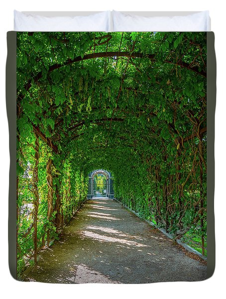 The Alley Of The Ivy Duvet Cover
